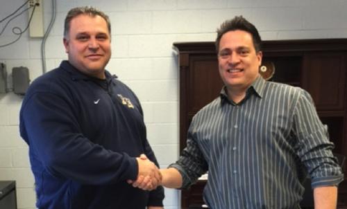 Indian Hills Athletic Director Lorenzo Baratta and Oakland Recreation Chairman Mike Guadagnino