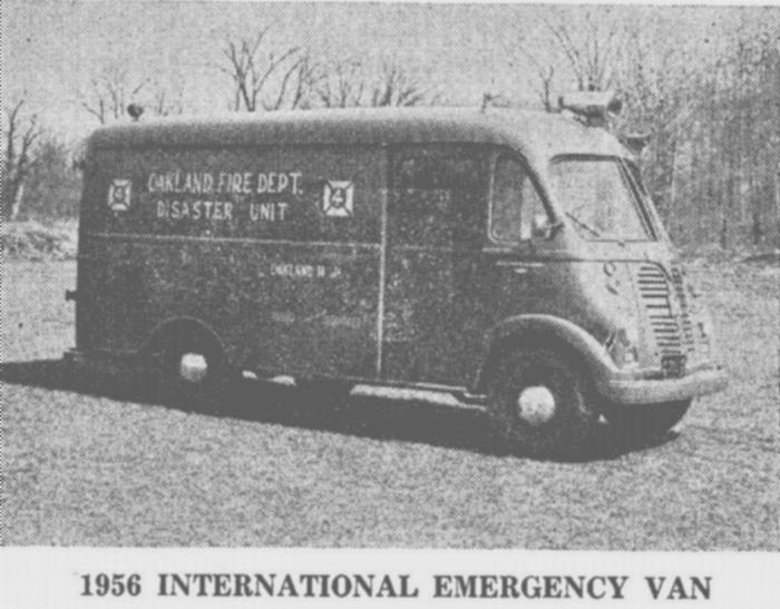 1956 Oakland Emergency Truck